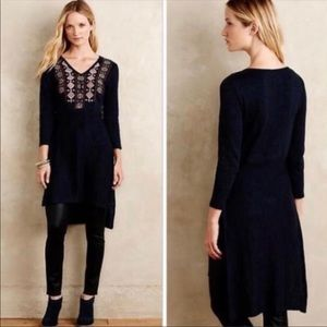 Akemi + Kin Embroidered Slit Sweater Dress